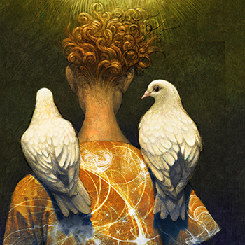 ANTONIO JAVIER CAPARO is an illustrator who create this illustration of a dove