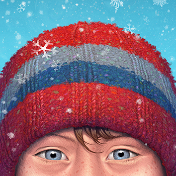 ANTONIO JAVIER CAPARO is an illustrator who create this illustration of boy on a snowy day