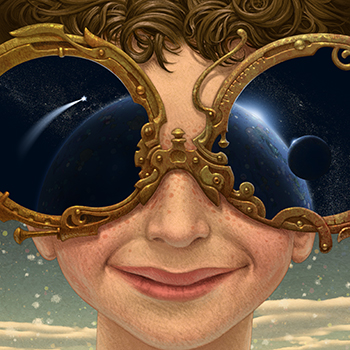 ANTONIO JAVIER CAPARO is an illustrator who create this illustration of kid with glasses