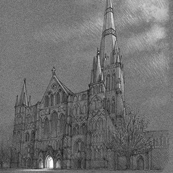 ANTONIO JAVIER CAPARO is an illustrator who create this illustration of a street light