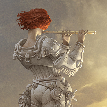 ANTONIO JAVIER CAPARO is an illustrator who create this illustration of red headed woman