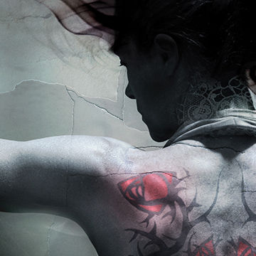 Cliff Nielsen an illustrator who creates 2D and 3D photographic vector illustration like this illustration of tatoo lady