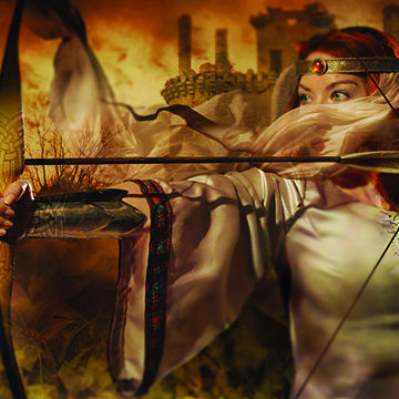 Cliff Nielsenan illustrator who creates 2D and 3D photographic vector illustration like this illustration of archer pri
